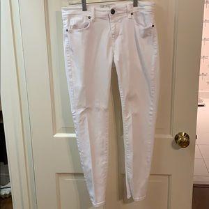 Free People White Skinny Jeans